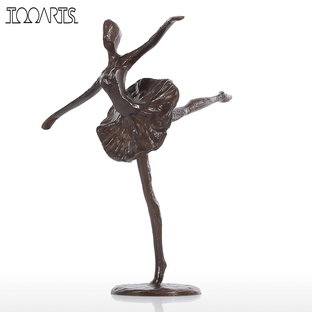 Tooarts statuette ballet bronze statue metal sculpture for Decoration jardin metal