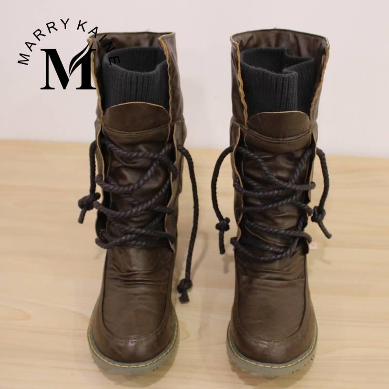 Aliexpress.com : Buy Big size 34 43 Women Half Knee High Boots