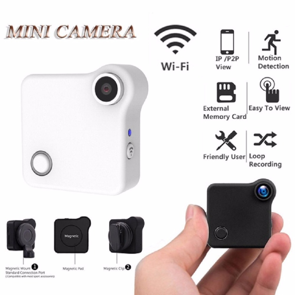 C1 Mini Camera DVR Wifi P2P IP 720P H.264 HD Mini Camera Wireless Action Cam Bike Camera Mini DV Camera Video Recorder 480p 2017 digital hd cmos 2 0 camera video audio mini camera small camcorde dv dvr recorder web cam
