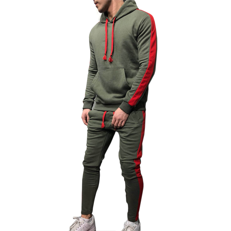Males's 2019 Spring Health club Health Sportswear Hooded Jogging Working Swimsuit Sports activities Put on Tracksuit Coaching Sweatshirt Sport Clothes Working Units, Low-cost Working Units, Males's 2019 Spring Health...
