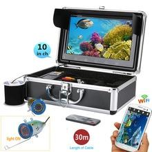 Gamwater 10 «720 P 30 м 1000tvl подводный Рыбалка видео Камера комплект, HD WIFI Беспроводной для IOS Android приложение поддерживает запись видео