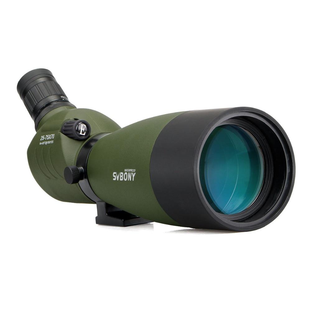 SVBONY Spotting Scope SV14 Zoom BAK4 25-75x70mm 45De Angled Hunting Archery Birdwatch Telescope Monocular NO Tripod F9310 new spotting scope birdwatch monocular