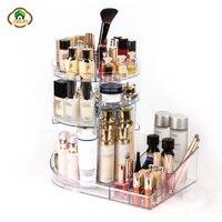 Msjo Makeup Organizers Box 360 Degree Rotation Organizer For Cosmetics Detachable Beauty Brush Holder Jewelry Storage Box