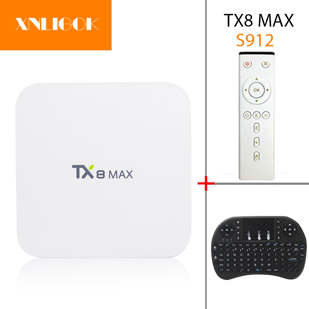 TX8 MAX Android 6.0 2.4/5.8GHz WiFi 4Kx2K Marshmallow Amlogic S912 TV BOX 3G+16G 3G+32G octa-core H.265 Smart TV Box 5pcs android tv box tvip 410 412 box amlogic quad core 4gb android linux dual os smart tv box support h 265 airplay dlna 250 254