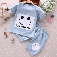 Baby Rompers Set Newborn Baby Boy Girls Clothes T-shirts & Shorts Set Baby Clothing Footbinding Romper Set Cotton Home Cloth