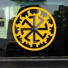CK2515#15*15cm Kolovrat in Perun funny car sticker vinyl decal silver/black auto stickers for bumper window decor