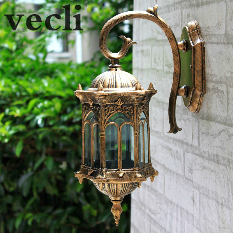 Popular retro outdoor wall light favorable europe villa sconce lampu waterproofproof garden doorway lighting