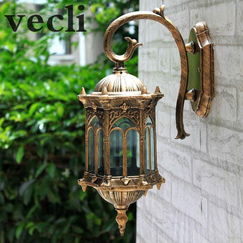 Popular Retro Outdoor Wall Light Favorable Europe Villa Sconce Lamp Waterproof Exterior Garden Doorway Lighting