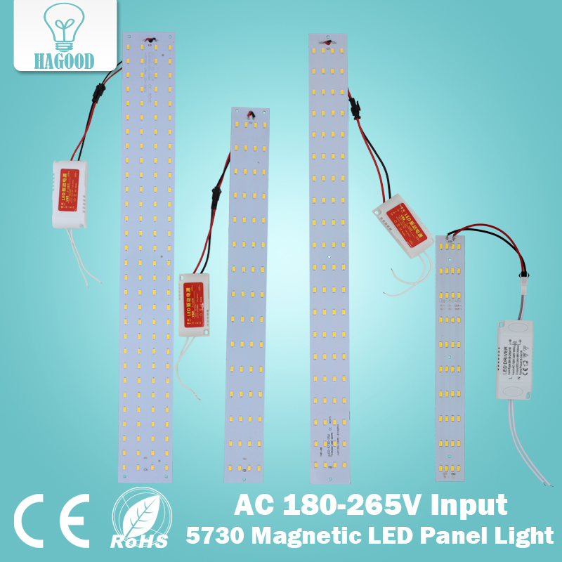 Free Shipping 180 265V Magnetic 10W 15W 21W Rectangular Square Led Ceiling Tube Lamps Replacement Tube