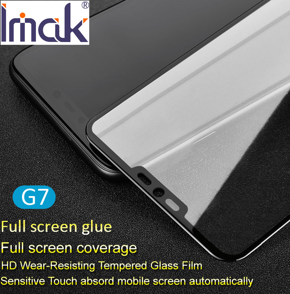 imak Pro+ Full Screen Glue Cover Tempered Glass For LG G7 ThinQ 2.5D Curved oleo