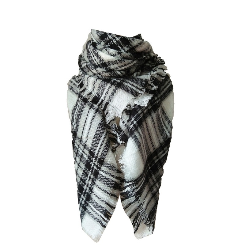 New Hot 20 Colors Winter Women Cashmere font b Tartan b font Plaid Scarf Men Scarves