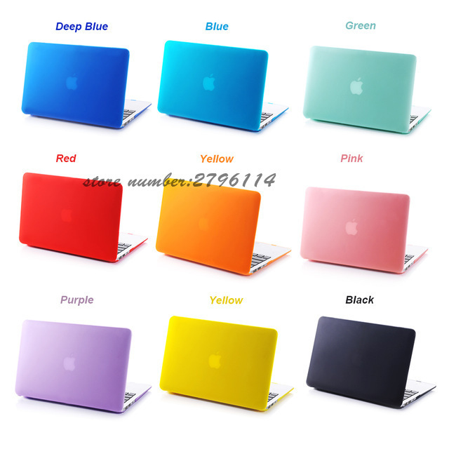 New Hot Matte Shell Case Cover for Apple Macbook Air Pro Retina 11.6 12 <font><b>13.3</b></font> 15.4 inch <font><b>Laptop</b></font> Cases <font><b>Bag</b></font> For 11 13 15 Mac book image