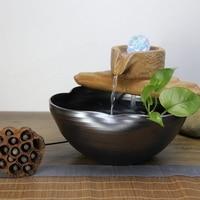 Настольный фонтан рыбы бак увлажнитель фэн шуй шар для украшения дома украшение для офисного стола подарки