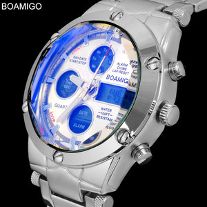 Image 2 - BOAMIGO Top Luxury Brand Men Military Sports Watches Mans Alloy Led Digital Watches Male Waterproof Wristwatches Reloj Hombre