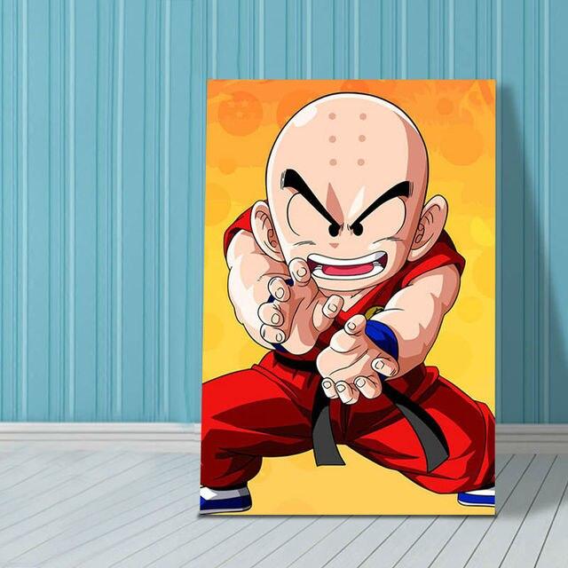 Us 140 Digitalen Malen Nach Zahlen Dragon Ball Modulare Malerei Goku Färbung Durch Zahlen Tenshinhan Geschenk Für Jungen Anime Poster In