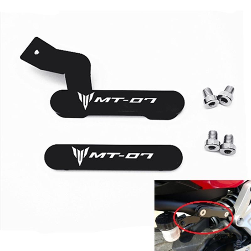 Motocicleta capa para os pés do passageiro footpeg remoção excluir kit para yamaha mt07 fz07 2014 2015 2016 2017