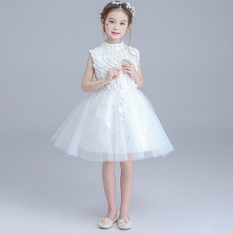 Princesse Robes Tutu Robe de Mariage Parti Kid formelle demoiselle d/'honneur Bébé Fleur Fille
