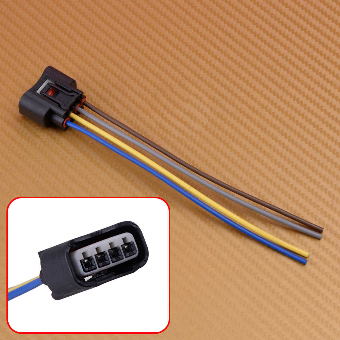 hight resolution of dwcx 1pc 4pin car ignition coil connector plug harness 90980 11885 2azfe1zzfe fit for toyota