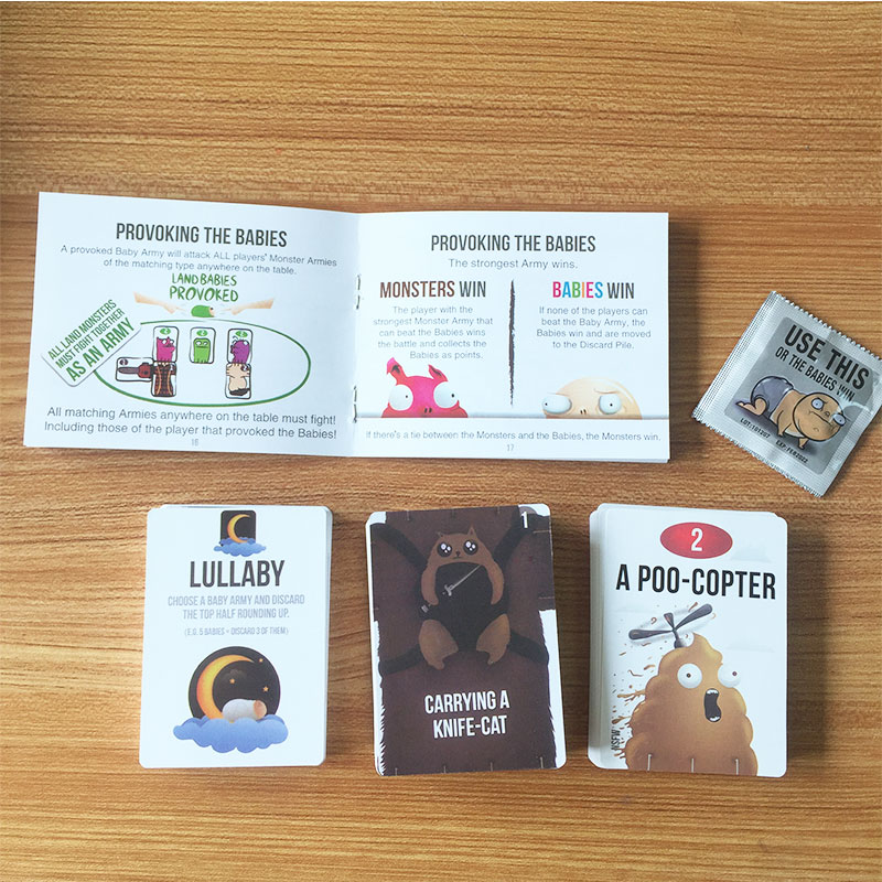 Board Game Bear And Baby Family Funny Entertainment Party Game Cards Basic And NSFW Expansion Pack Kids Toys