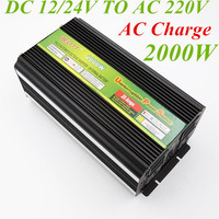 2000W Modified Sine Wave Inverter 12V 24V to AC 220V Peak Power 4000W Battery Charge UPS CE Certification