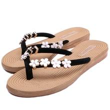TONGPU Flip Flops Women's Beads Beach Slipper Sandals 248-557