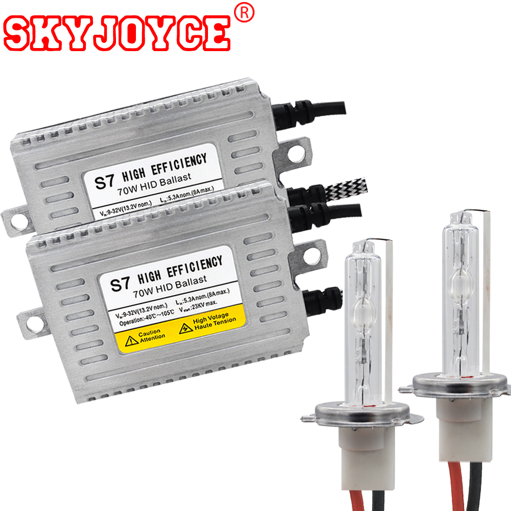SKYJOYCE Truck use 24V hid xenon kit 70W auto HID ballasts headlight H7 H1 H11 9005 9006 12V 24V H3 Lamp car styling accessories