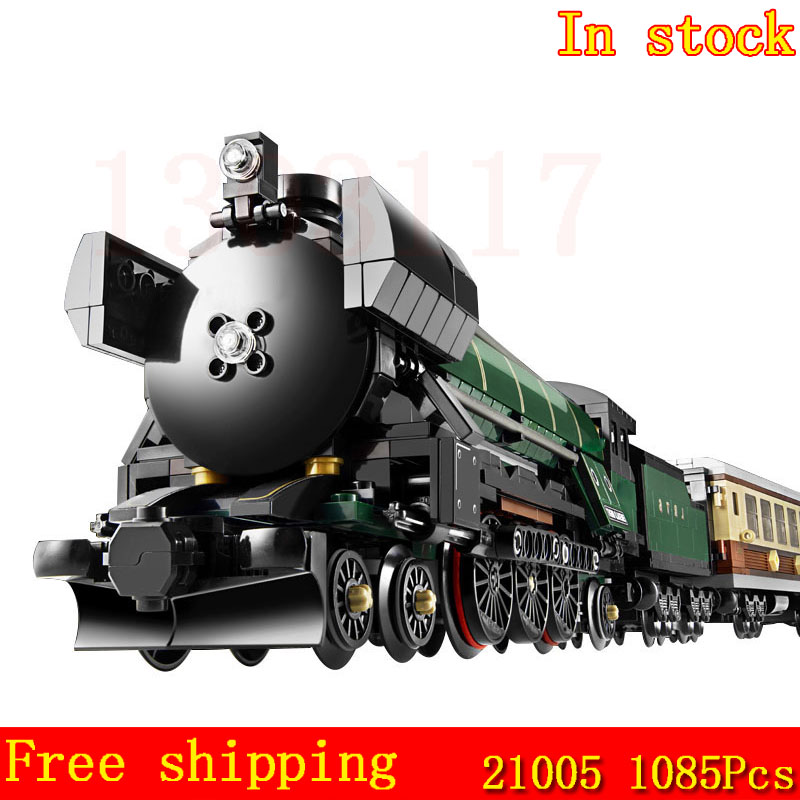 Free shipping In-Stock LEPIN 21005 1085Pcs  Emerald Night Train Model Building Kit Block Brick Toys Compatible 10194 lepin 22001 pirate ship imperial warships model building block briks toys gift 1717pcs compatible legoed 10210