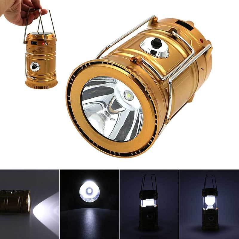 6 LEDs Portable Solar Charger Lantern Emergency Camping Lanterns Waterproof Rechargeable Hand Crank Light Lamp