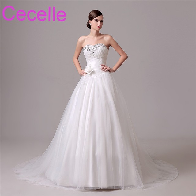 f8e9a81e542 Simple Ball Gown Princess Wedding Dresses 2019 Sweetheart Beaded Ruched  Vintage Bridal Gowns Lace-Up Back Robe De Mariee