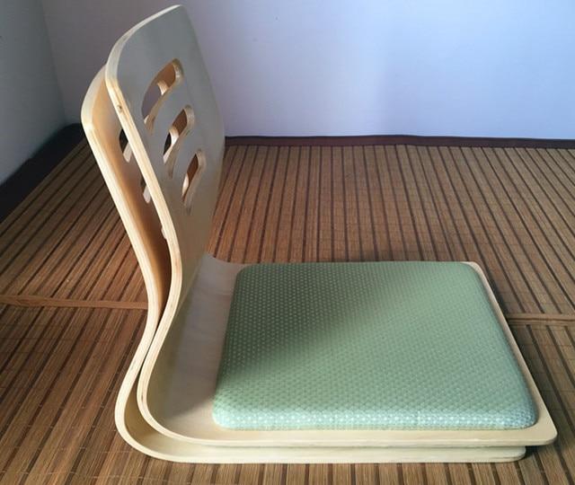 2 Teile Los Japanische Zaisu Stuhl Sitzkissen Naturliche Finish