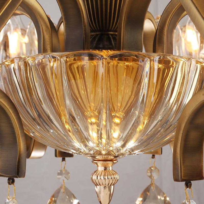 Yaşayış otağı lampaları üçün büllur çilçıraq şüşəli - Daxili işıqlandırma - Fotoqrafiya 5