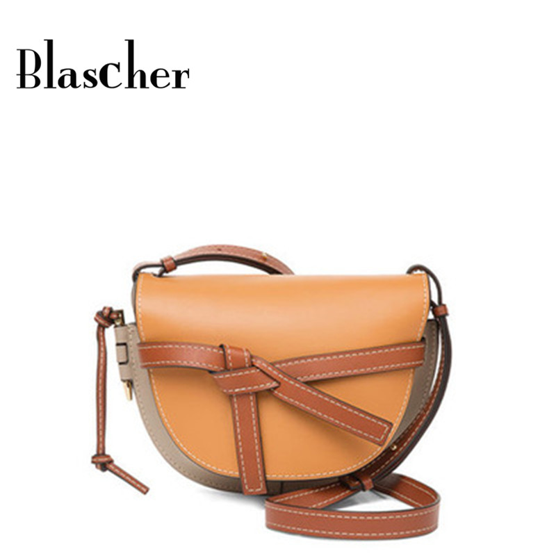 65fce811b3ac Aliexpress.com   Buy Blascher Summer Women Circle Bags Crossbody Bags Color  Matching Small Female Shoulder Handbags Clutch Leather Bag H8K01 from  Reliable ...