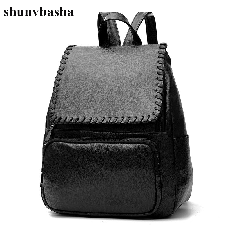New Arrival PU Leather Backpacks Women Top Quality School Bags For Teenage Girls Brand Designer School Portfolio Backpack Female
