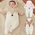 Bebé recién nacido Ropa de Invierno Unisex prendas de vestir exteriores de Las Muchachas algodón Grueso Warn Mono Niños Bebés de Los Mamelucos Snowsuit Traje