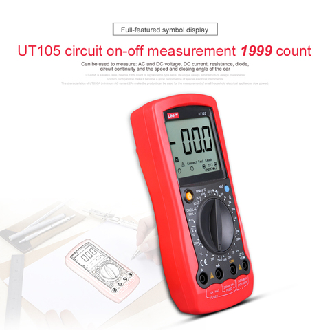 UNI-T UT107 LCD Automotive Handheld Multimeter  AC/DC voltmeter Tester Meters with DWELL,RPM,Battery Check Islamabad