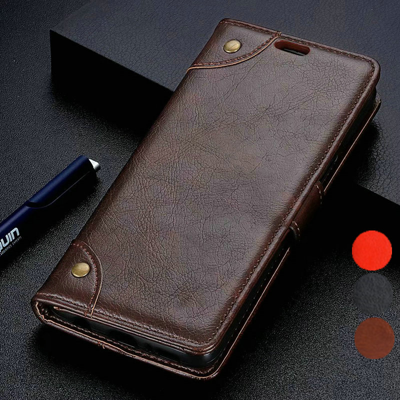 Vintage <font><b>Leather</b></font> Wallet Fundas <font><b>Case</b></font> For <font><b>Sony</b></font> <font><b>Xperia</b></font> <font><b>1</b></font> 10 PLUS L3 L2 XZ1 XZ2 XZ3 XA2 ULTRA PLUS Premium Compact Flip Stand Cover image