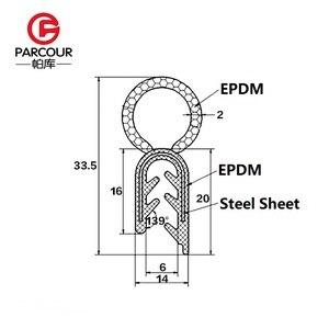 Image 5 - Hohe Qualität 1M EPDM Und Stahl Noise Isolierung Abdichtung Gummi Streifen Stahl Platte Auto Zubehör Shelter Von Wind Noise