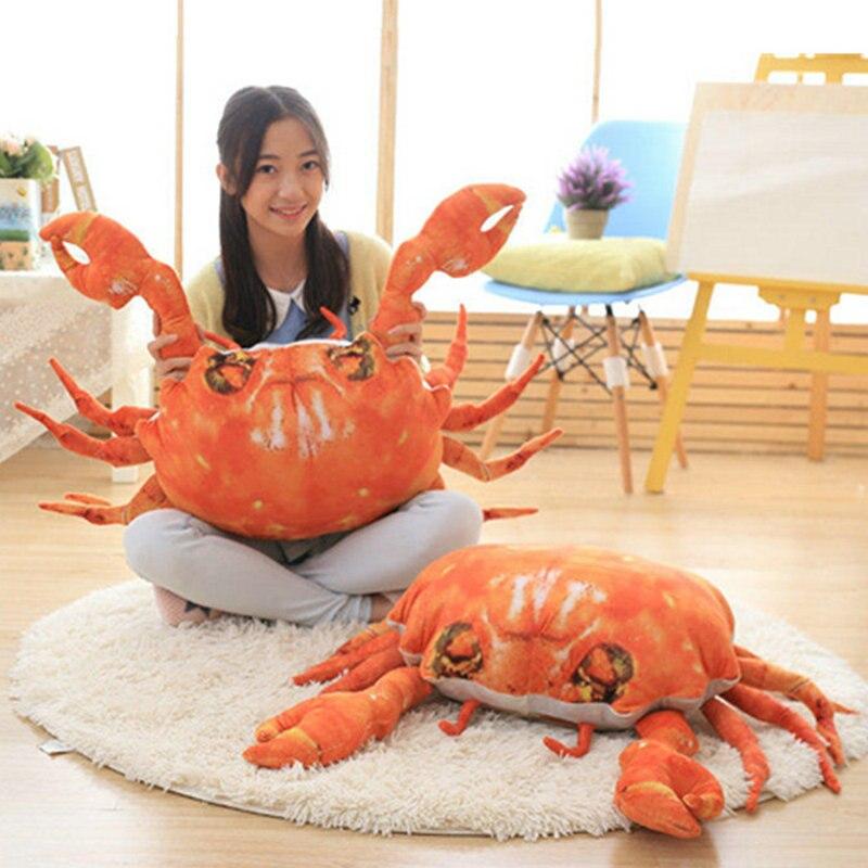 70 cm nouveau Style 3D crabe artificiel en peluche jouets crabe tissu poupée oreiller coussin en peluche cadeau d'anniversaire pour les enfants