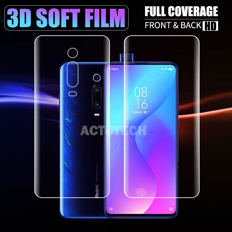 Front Back 3D Full Cover Screen Protector TPU Film For Xiaomi Redmi K20 Pro Soft Clear