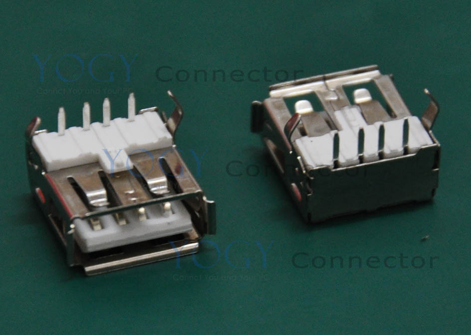(30 pcs/lot) DIP Type-A USB Connector, 2 Fixed feet, Commonly used in Computers and industrial machine