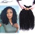 Dhl frete grátis Original brasileiro virgem de alta qualidade cabelo encaracolado 7A grau barato virgem cabelo 3 PCS Lot