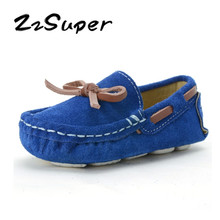 d86b60bef1cc ZzSuper New Toddler Boys Loafers Flats Soft Leather Kids Girls Spring  Autumn Slip-on Boat Baby Peas Shoes Size 21-36