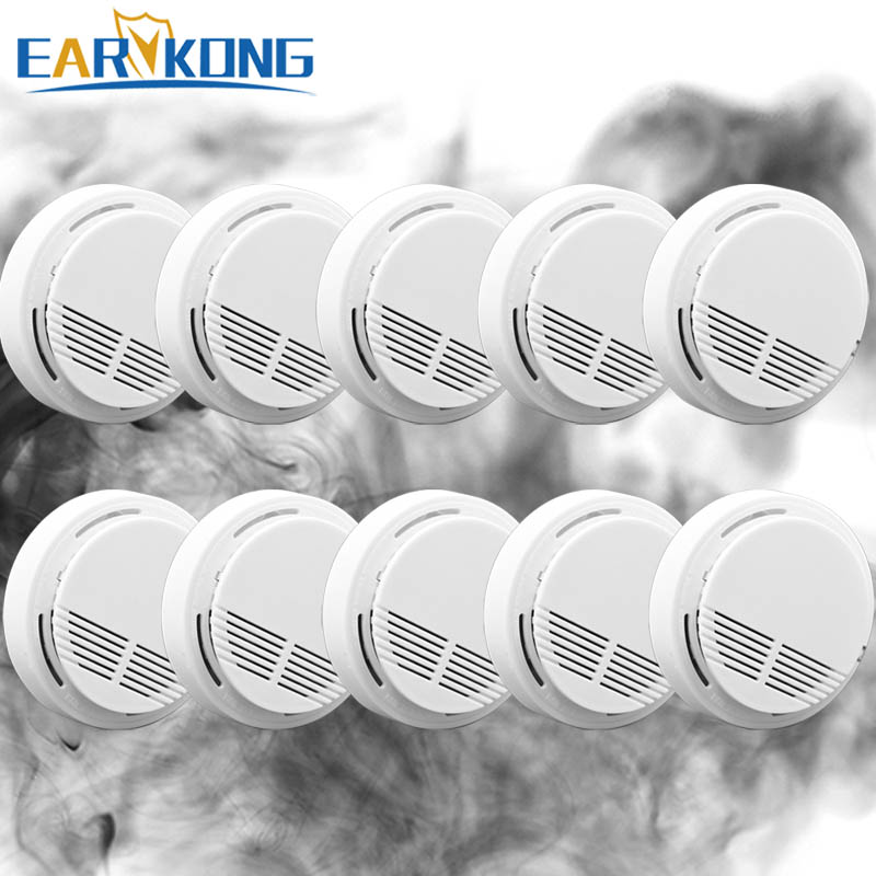Free shipping 2016 Usage fire wireless Home Burglar Security Alarm FOR GSM alarm system NEW White10pcs wireless smoke detector wireless smoke fire detector smoke alarm for touch keypad panel wifi gsm home security system without battery