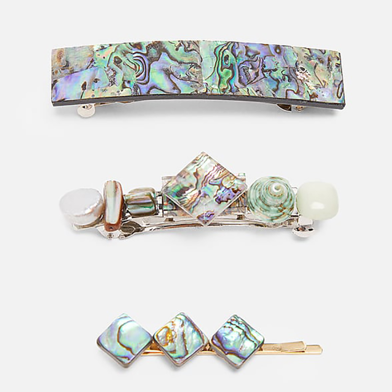 Best lady Ethnic Resin Colorful ZA Hair Clips Sets for Women Girls Bohemian Wedding Hair Jewelry Barrettes Crystal Hair Pin Gift