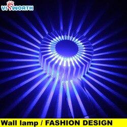 Boże narodzenie słonecznik Aluminium lampy ścienne 3W światło tła Ac 110V 220V 240V korytarz światło na korytarz Hotel SpotLight