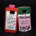 De moda de lujo 3d amor poción botella de pastillas frío cubierta case de silicona suave para samsung galaxy s5/s6/s7/s7 borde más casos de teléfono