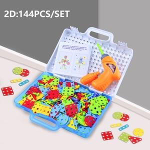 Image 5 - เด็กใหม่เด็กของเล่นเครื่องมือไฟฟ้าเจาะสกรู 3D ปริศนาการศึกษาสำหรับ Pretend Play เกมประกอบสัตว์บล็อกของเล่น