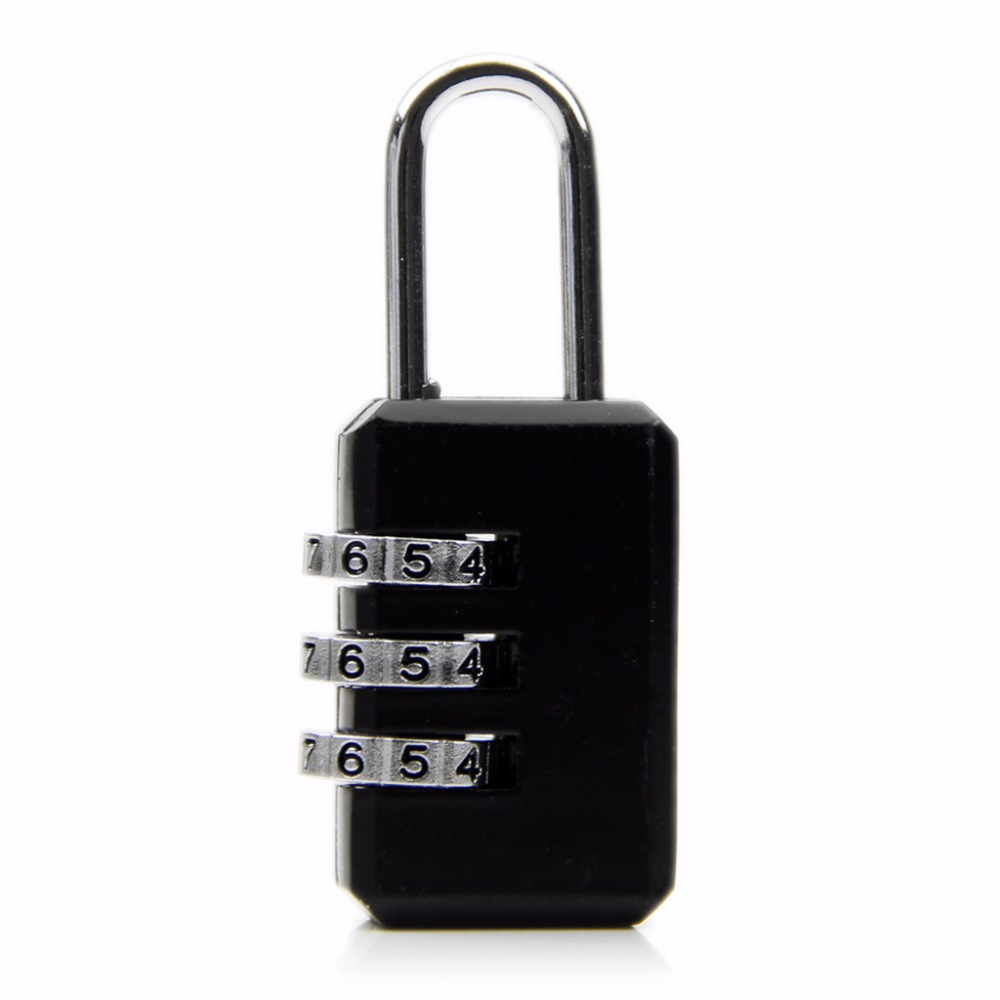 Mini Resettable 3 Digit Combination Safe Travel Luggage Suitcase Code Lock Metal Lock For Storage Bags Useful Safe Tool Kit