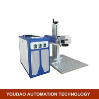 20W 200mm*200mm metal plastic fiber laser marker laser marking machine raycus laser source