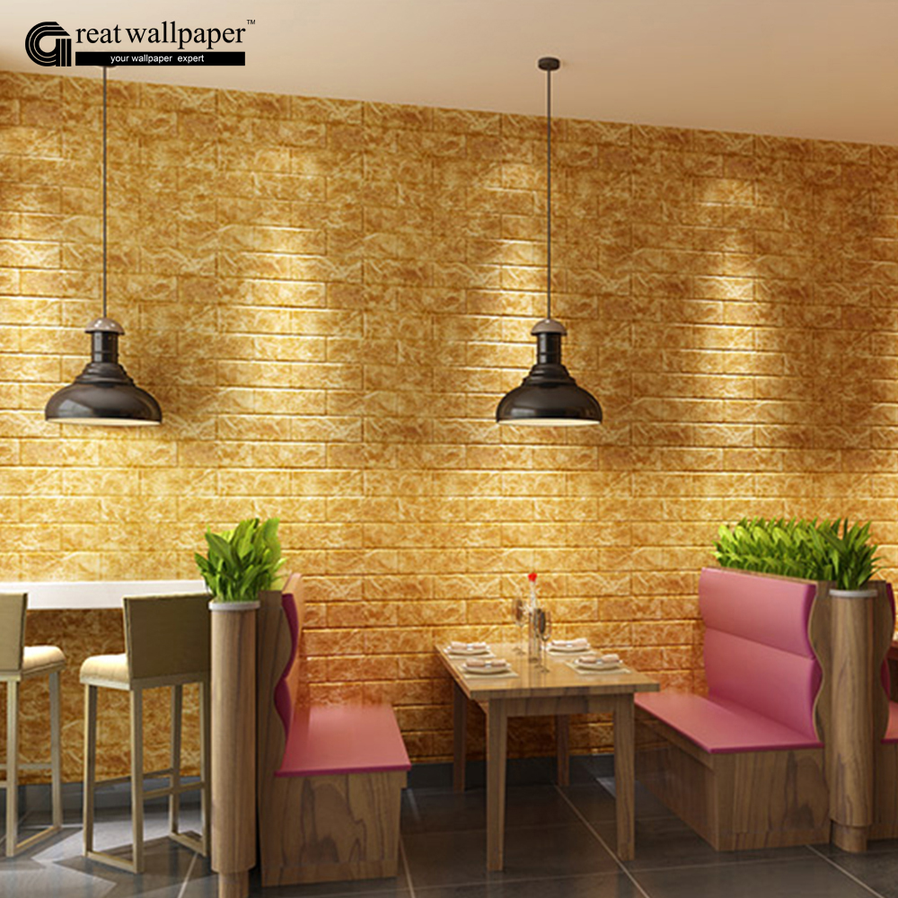 3D wall stickers new pattern brick pattern self adhesive wallpaper ...